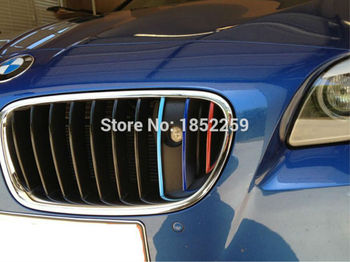 3 x New Style Colorful Decoration Grill Decals Motorsports Stickers for BMW M3 M5 M2 X1 X3 X5 X6 5 Series 7 Series image
