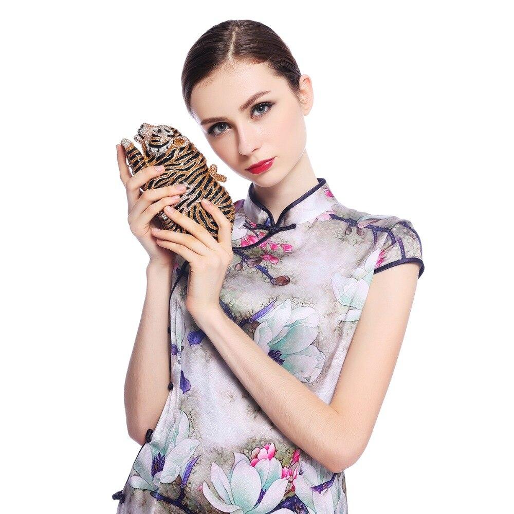 Fawziya Tiger Clutch Purse Bling Rhinestone Clutch Evening Bag fawziya apple clutch purses for women rhinestone clutch evening bag