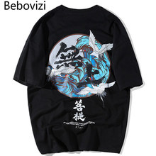 Bebovizi Brand Japanese Streetwear Ukiyo E Printed T Shirts Summer Chinese Style Men Women Top Tees 2018 Casual Vintage Tshirt
