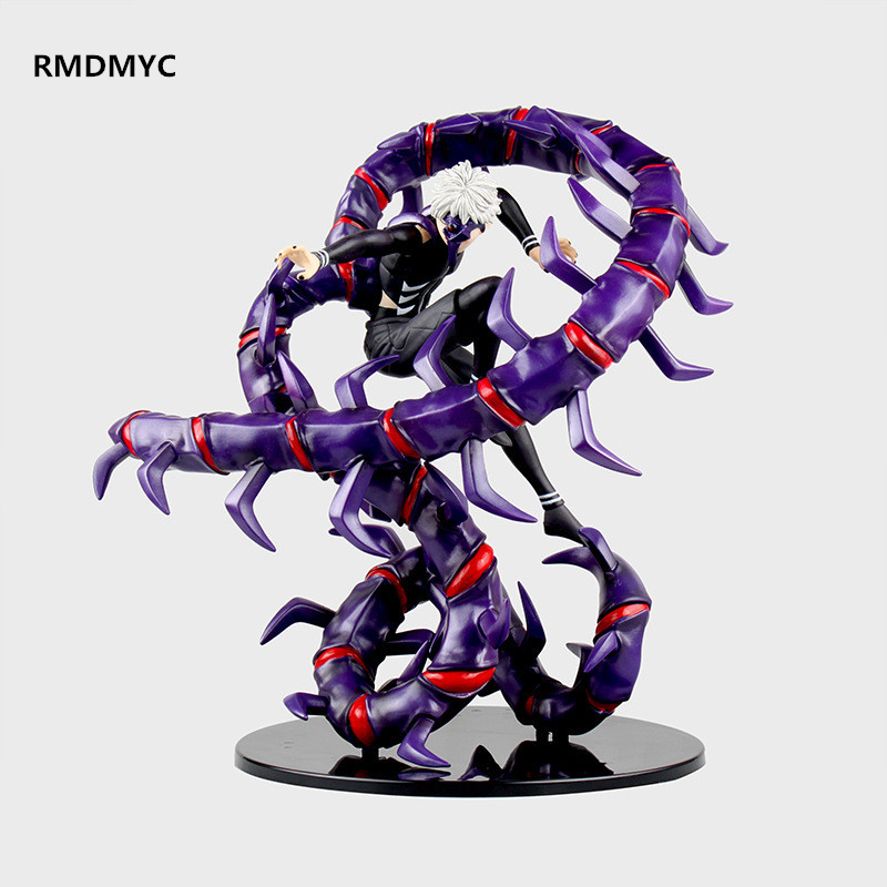 ФОТО RMDMYC Anime Figure Tokyo Ghoul Action Figure Toys 28CM Centipede Forms Large Kaneki Ken PVC Model Collection Dolls ACGN Gifts