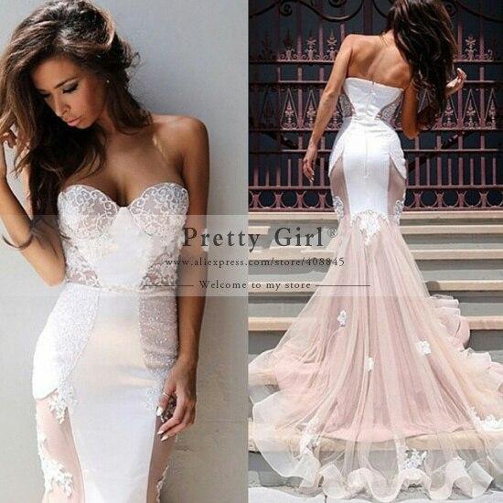 Aliexpress Com Buy Real Photo Vestido De Noiva Romantic Mermaid Wedding Dresses 2015 Sweetheart Backless Fashionable Wedding Dress Cheap Casamento From