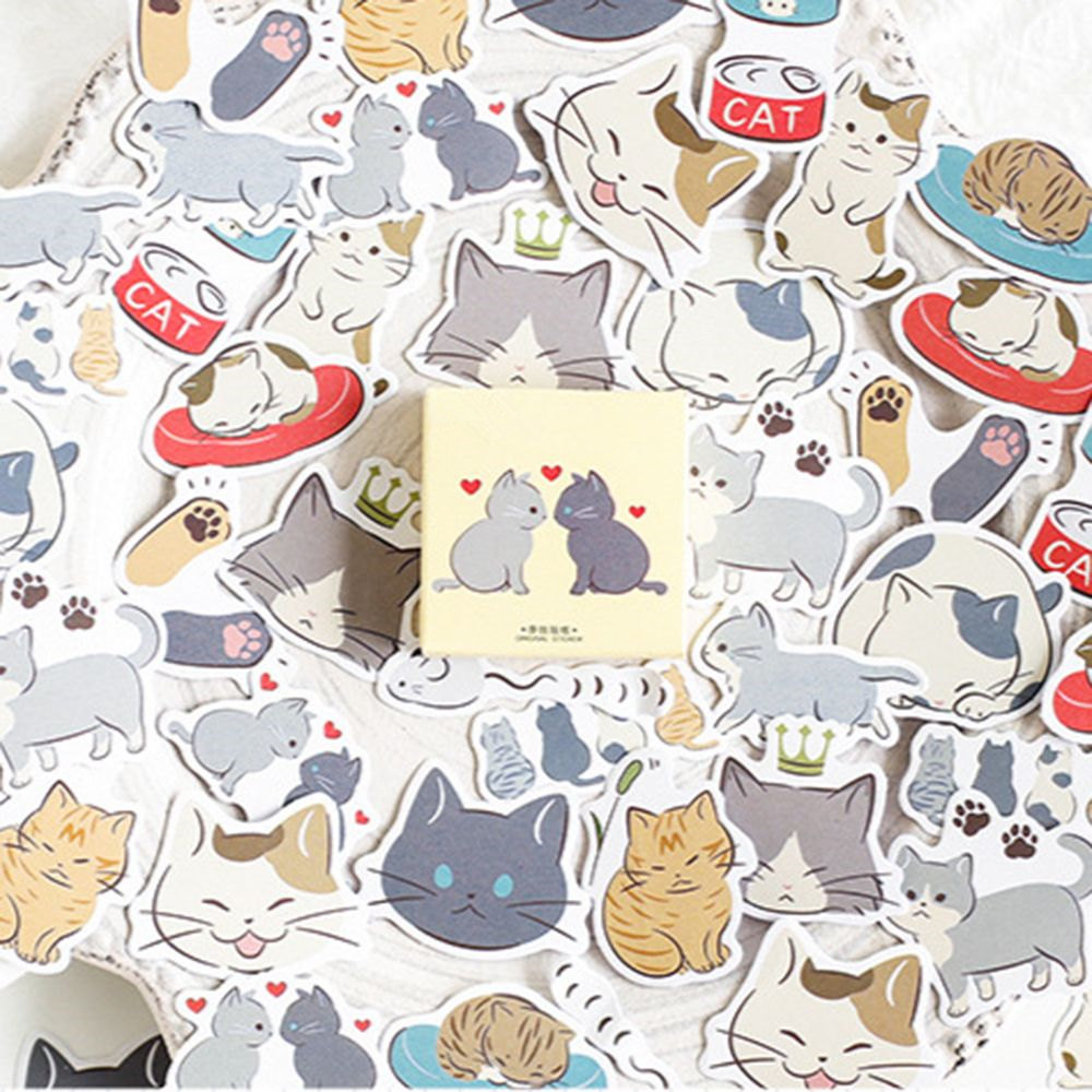45 Pcs/lot Creative Cute Lovers Cat Mini Paper Sticker Decoration DIY Ablum Diary Scrapbooking Label Sticker