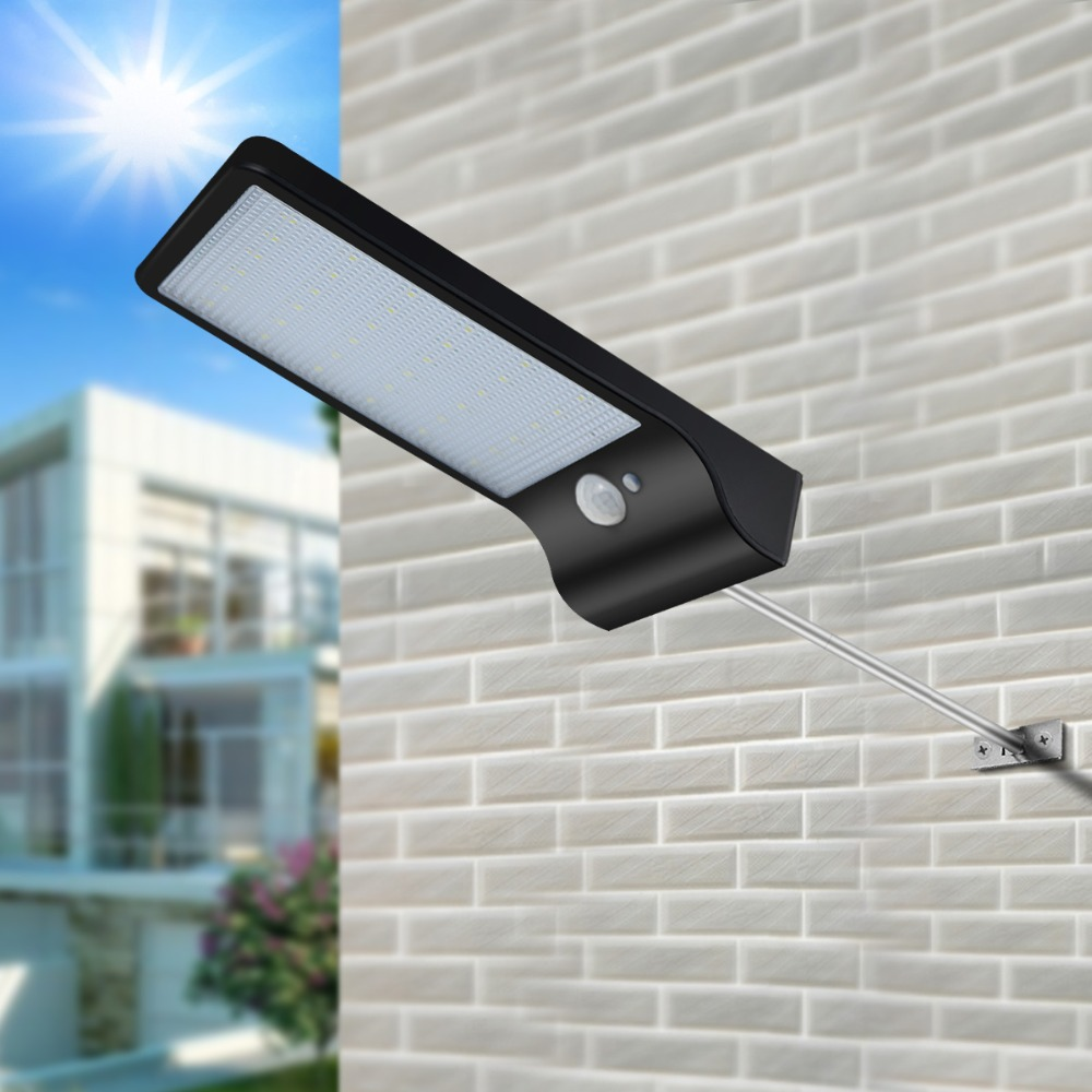 LED Solar Light 36 leds PIR Motion Sensor night light Outdoor Waterproof Garden Street light Security Wall Lamp with mounted rod-in LED Night Lights from Lights & Lighting