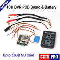 1CH Mini HD XBOX DVR PCB Board Up D1 30fps Security Digital For Model Aircraft Video Recorder With Battery Support 32GB SD Card