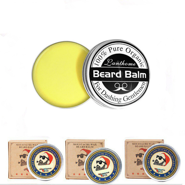 Beard wax 100% Natural Beard Oil Balm Moustache Wax for Styling Beeswax Moisturizing Smoothing Gentlemen Beard