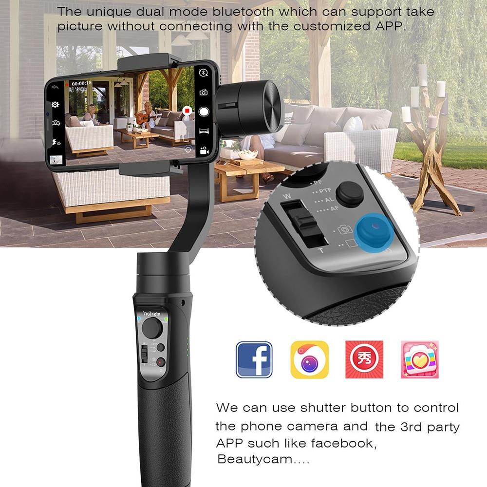 Stabilisateur de cardan portable 3 axes Hohem iSteady pour caméra d'action Gopro sjcam iPhone SamsungPK lisse 4 vimble 2 DJI OSMO