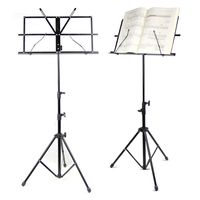 Folding Music Stand Metal Tripod Stand Colourful Sheet Holder With Soft Case with Carrying Bag Free Shipping