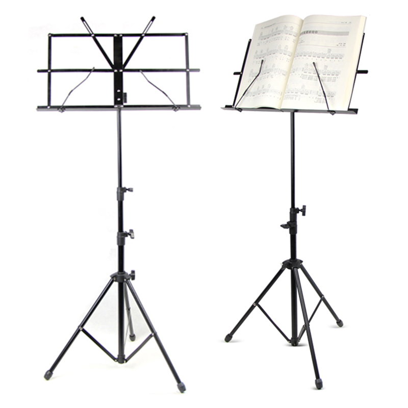 Folding Music Stand Metal Tripod Stand Colourful Sheet Holder With Soft Case with Carrying Bag Free Shipping colourful sheet folding music stand metal tripod stand holder with soft case with carrying bag free shipping wholesales