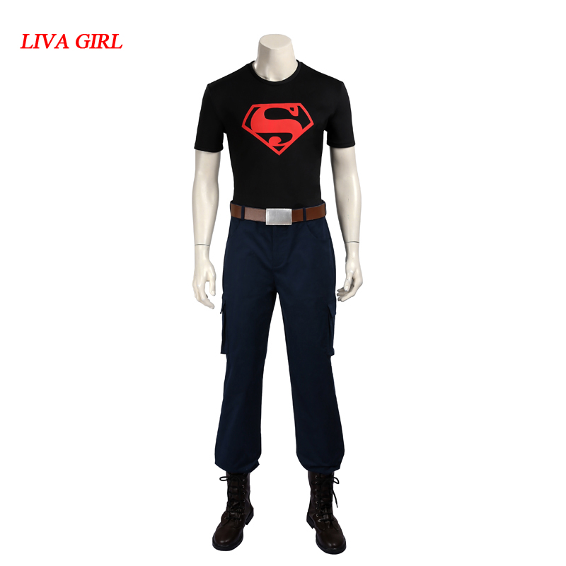 Young Justice cosplay costume Superboy cosplay costume Carnival Halloween costumes for adult men superman costume custom made
