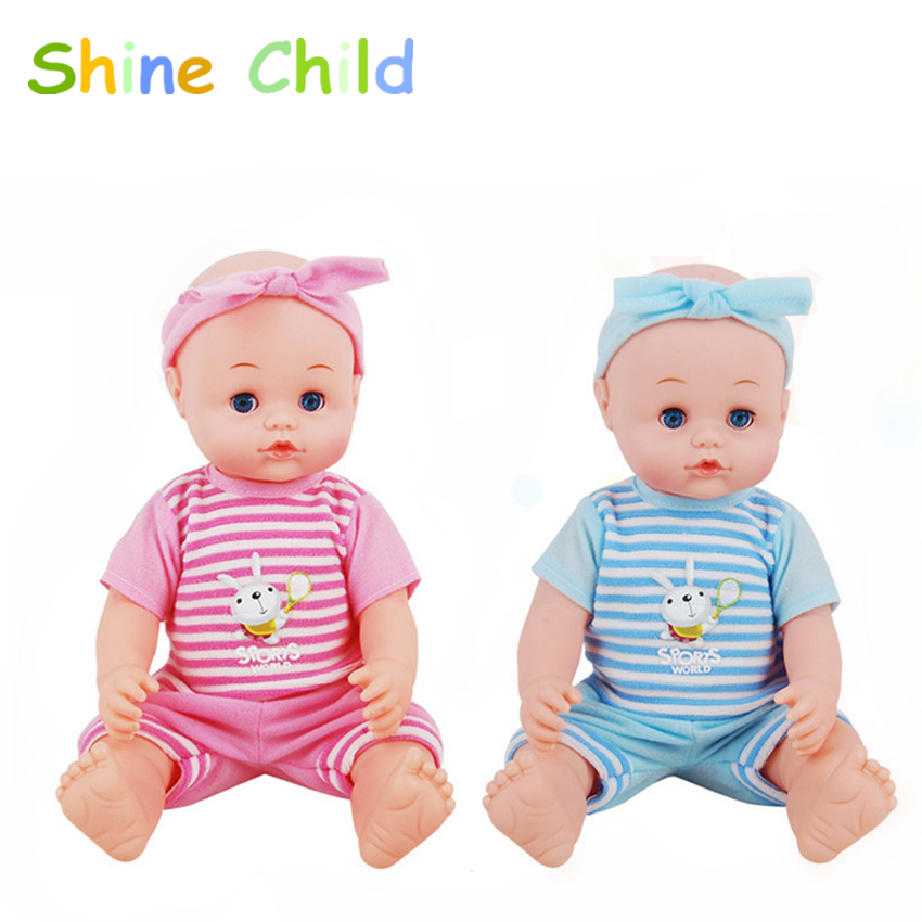 Stroller Baby Doll Blink Sound Silicone Toy Set Contains ...