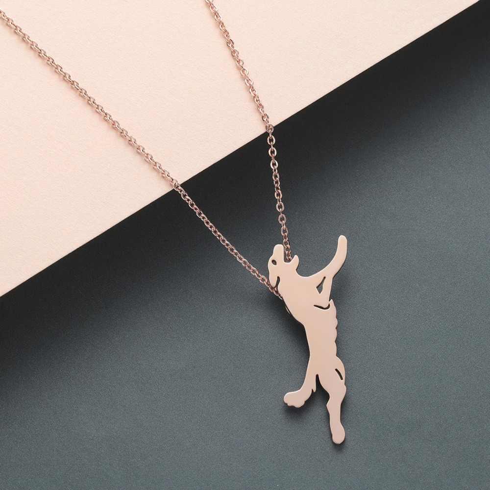 CHENGXUN الشرير الذئب يعوي الفولاذ المقاوم للصدأ العقلية حية الشرير أنيق قلادة مجوهرات أفضل هدية للأصدقاء