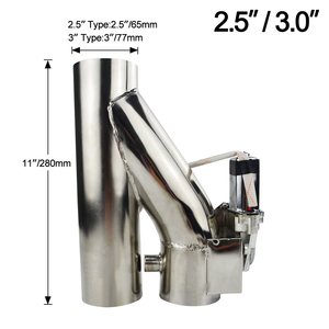 "Image 4 - VR   Universal Stainless Steel  2.5"" / 3"" Dump Valve Electric Exhaust Cutout Cut Out with Wireless Remote VR CT93"