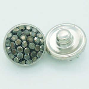 New Trendy 12mm manuale di Cristallo Prue Strass & argilla bottoni a pressione in metallo fit FAI DA TE a scatto del commercio all'ingrosso dei monili di fascino