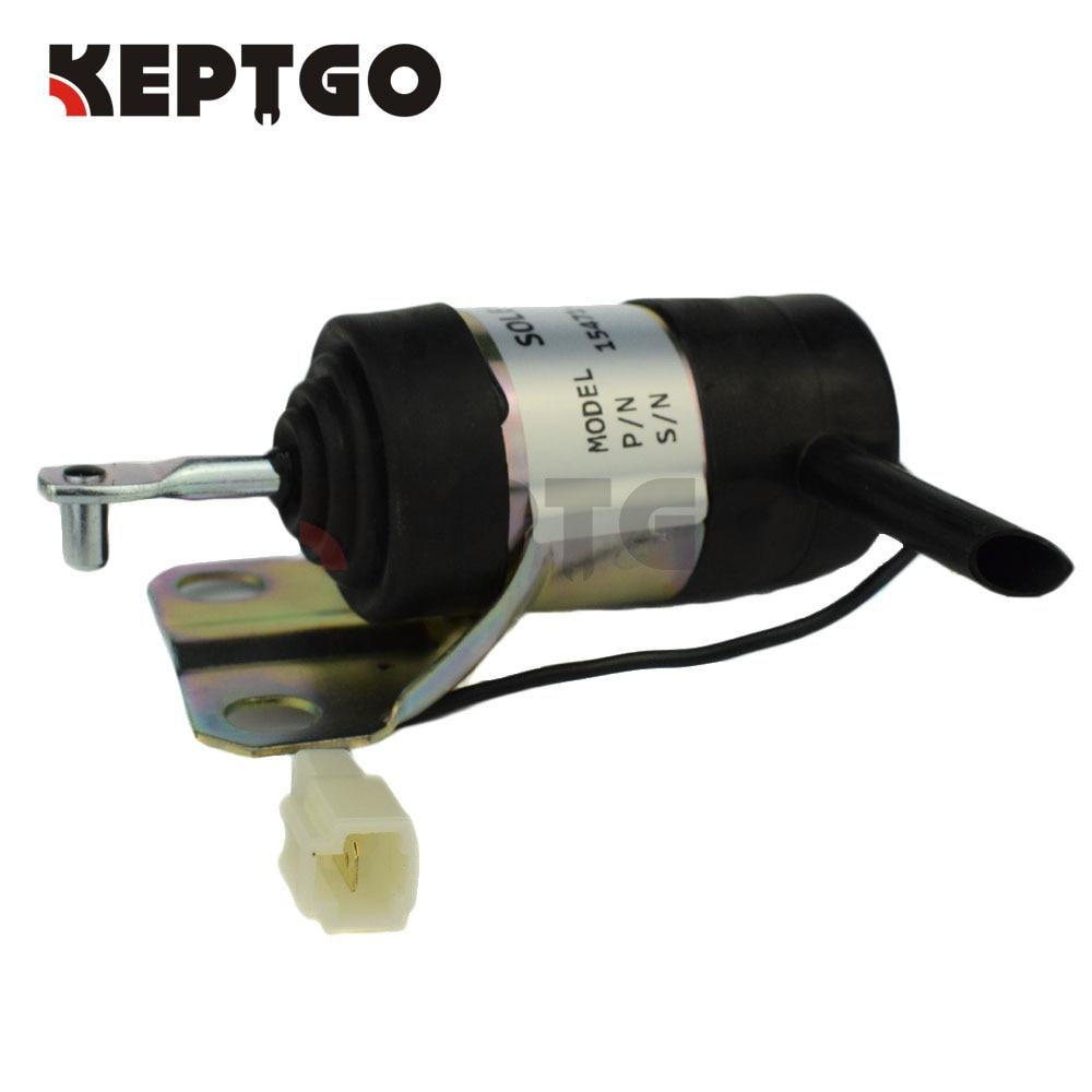 15471-60010 12v Stop Solenoid For Kubota 052600-100, 052600-1000 stop solenoid 12v 16851 60010 for kubota gf1800 gf1800e t1600h t1600hg tg1860 zd18f zd21f k 008 k008 k0083ktc kcl