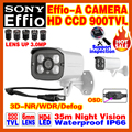 "Free Shipping 1/3""Sony CCD Effio-4140 Sensor HD Color Image Cctv Camera Waterproof IP66 Infrared Array Night Vision 35m OSD Meun"