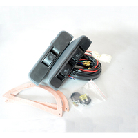 Universal Crescent Style Power Window Switches 12v With Holder And Wire Harness 3pcs Per Set
