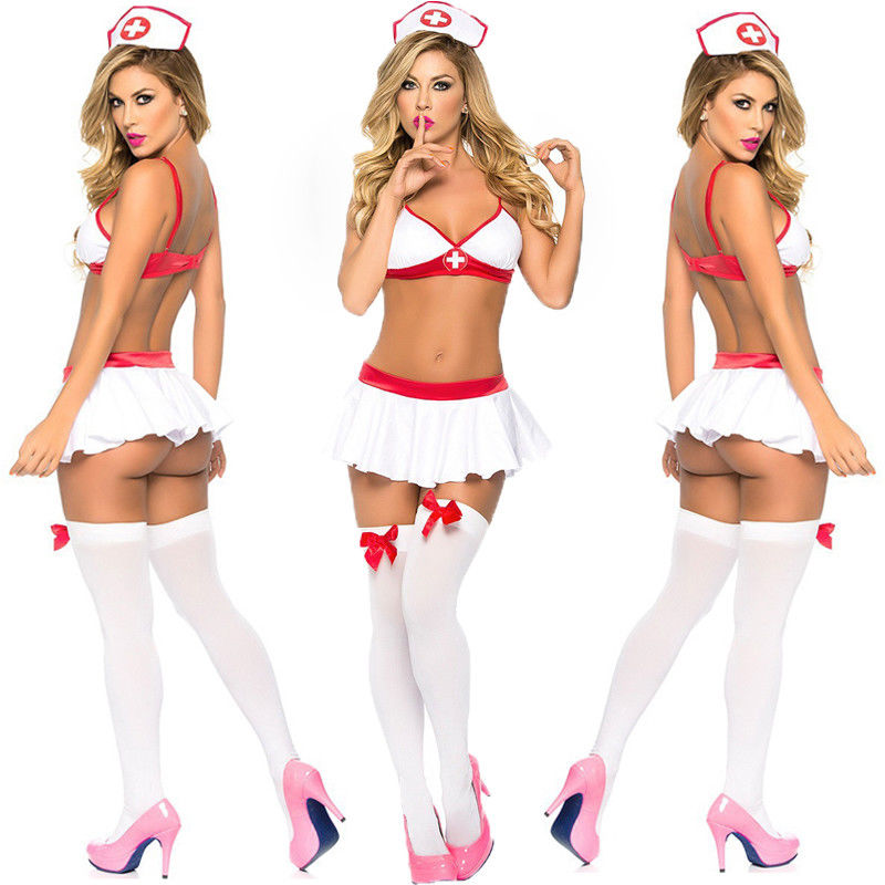 Nurse Cosplay Uniform Costume Complete Outfit Sexy Lingerie Nurse Cosplay Suit