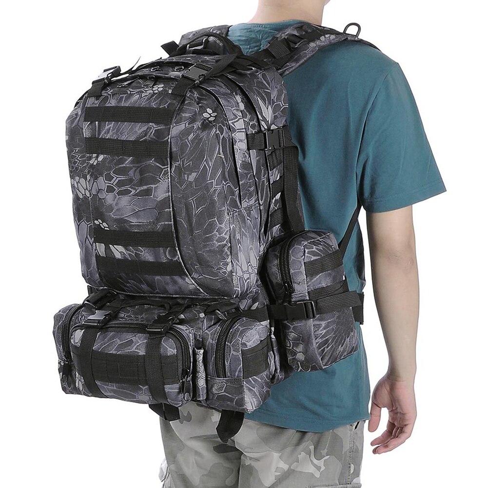 55L Oxford tissu militaire pratique randonnée Trekking sac à dos tactique grande capacité sac extérieur Molle sac à dos Camping chasse