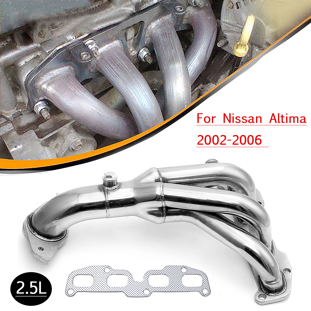 25 L Front Catalytic Converter Gaskets Manifold Exhaust For Nissan Sentra Altima 2002 2003 2004 2005: 2003 Nissan Altima 2 5 Exhaust Manifold At Woreks.co