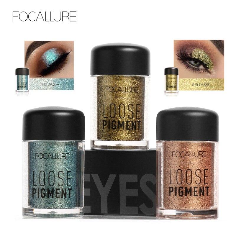 Online Shop Focallure 18 Colors Loose Pigment Eye Shadow Makeup ...