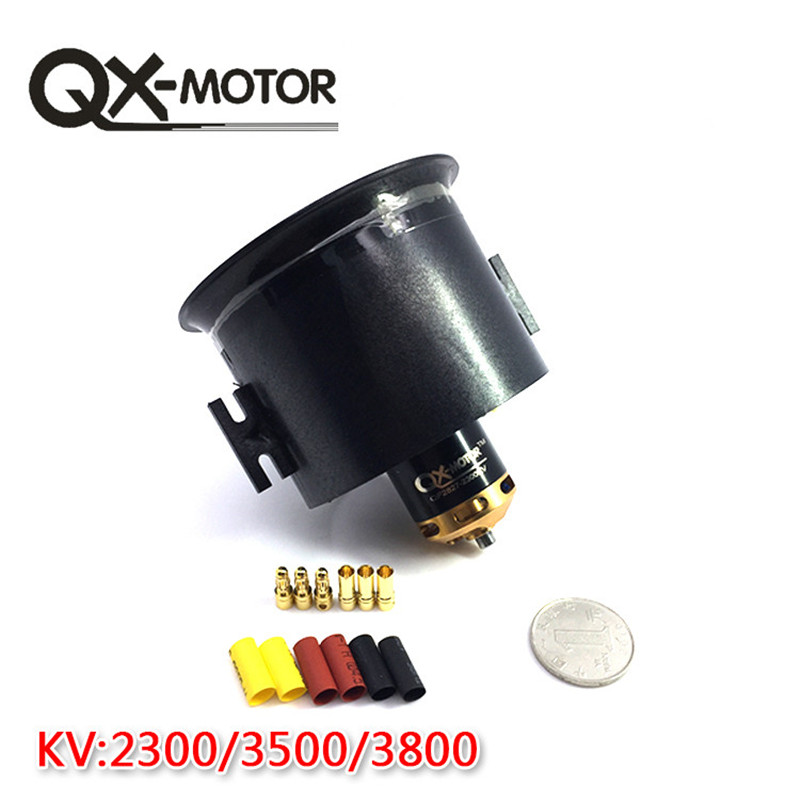 QX-Motor 70mm 6 Blades Ducted Fan EDF With 2827 KV2300 KV3500 KV3800 Brushless Motor For RC Airplanes image