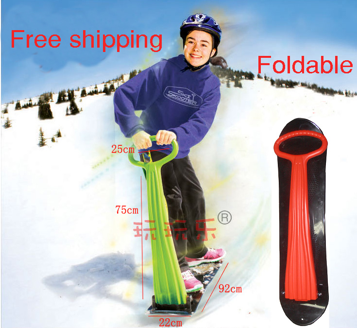Children's Snow Scooter Skiing Board Snow Tube Sleds Newest ski car fun ice snowboard sledge