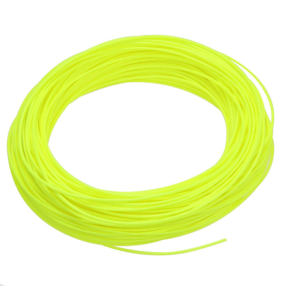 Fly Fishing Line WF 1/2/3/4/5/6/7/8/9F Fluo Yellow Color Weight Forward Floating Fly Fishing Line silver long chain hanging earrings moon star shape