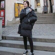 [XITAO] 2016 Winter Leisure Woolen Korea Wind Code Splicing Pockets Buttons Decoration Female Memory Fabrics Cloak Down ,MNA-001