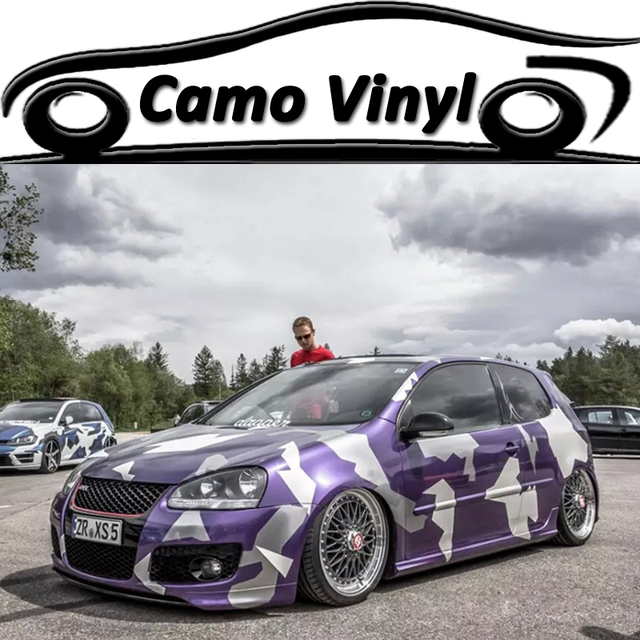 6308d22bd1 5 10 15 20 25 30M Hot Car Styling Urban Purple Camouflage Vinyl Wraps Car  Sticker For Vehicle Body Covers