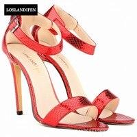 European Fashion Elegant Buckle Strap High Thin Heels Sandals Peep Toe Wedding Shoes Prom Womens Footwear