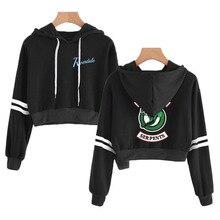 fb23de704ac 2019 BTS Women Crop Top Hoodies RIVERDALE Southside Serpent Print Harajuku Kpop  Hoodies Sweatshirts Plus Size