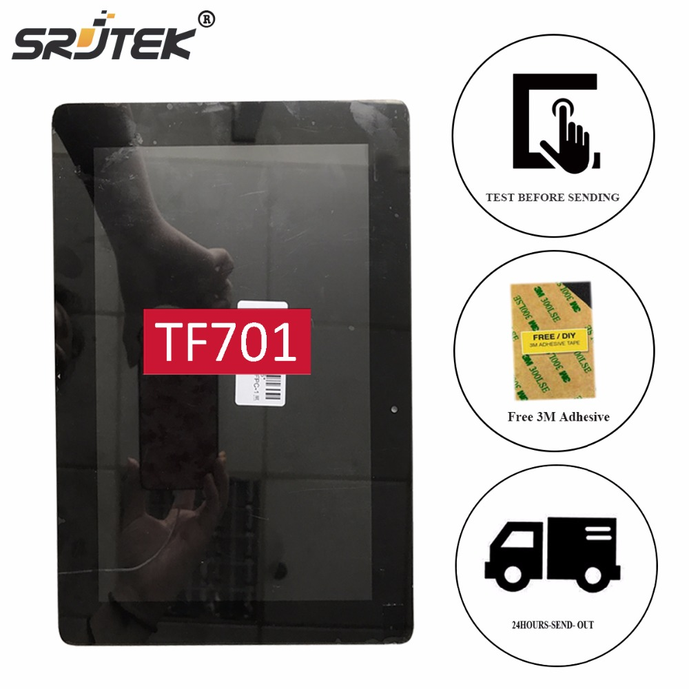 Srjtek 10.1 For ASUS Transformer Pad K00C TF701T TF701 5449N LCD Display + Touch Screen Digitizer Glass Panel Sensor Asembly new for asus eee pad transformer prime tf201 version 1 0 touch screen glass digitizer panel tools