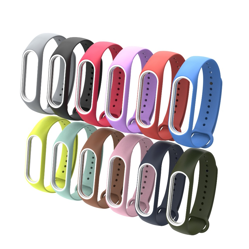 Colorful MiBand 3 Silicone Wrist Strap Bracelet Double Color Replacement watchband for Original Xiaomi Mi band 3 Wristbands belt все цены