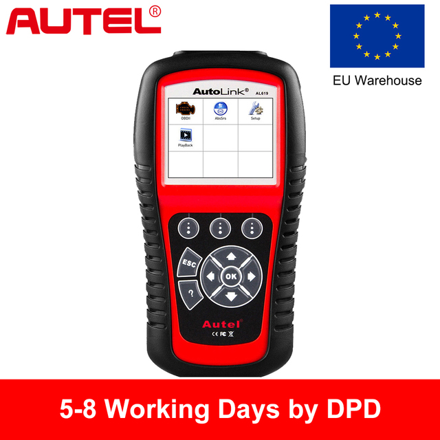 New Price Autel OBD2 Scanner Autolink AL619 Car Diagnostic Tool Automotive Scanner Engine,ABS,SRS,Airbag Auto Car Code Reader