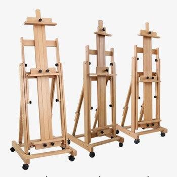 Multipropósito Caballete De Pintura aceite Pintura Caballete soporte plegable Caballete De madera...