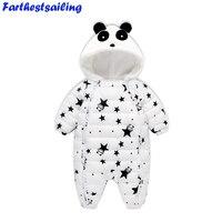 Baby Pagliaccetti Tuta Tute Invernali 2018 Primavera Vestiti Panda Newborn Baby Girl Boy Snowsuit Bambini Infant Neve Usura Onepiece