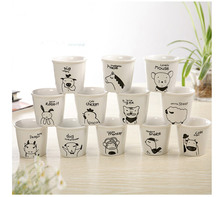 1PC New Pattern Creative Chinese Zodiac MINI Ceramic Mug Cartoon Milk Coffee  JL 073