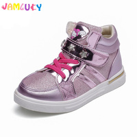 Casual Shoes For Kids Girls Fashion Sneakers Children Cute Pink Mesh High Top Shoes For Girls
