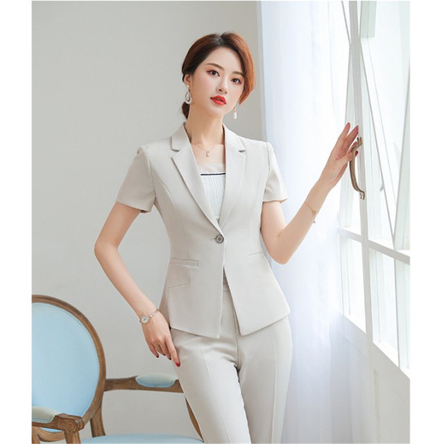 Womens Short-Sleeve Formal Suits