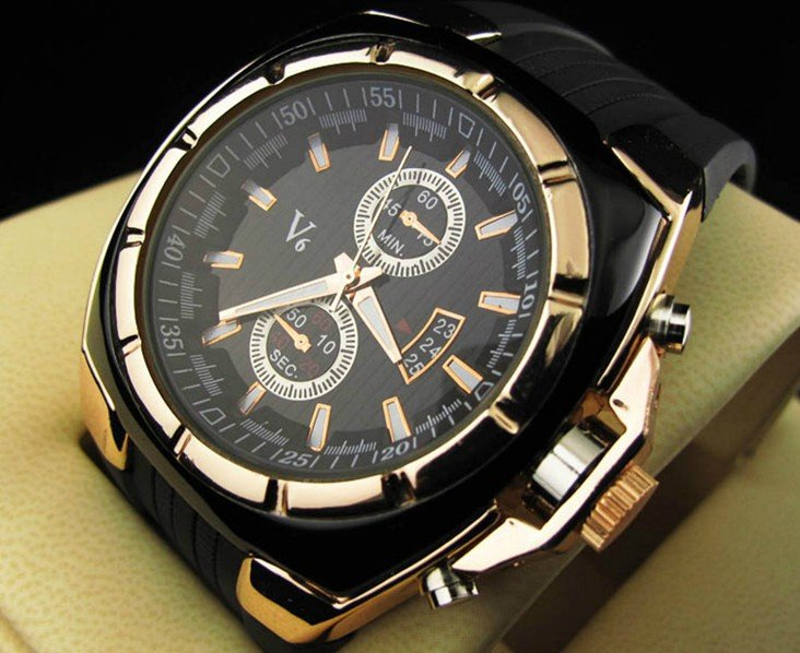 High Quality V6 Silicone watch men fashion military sports quartz wristwatch Male Watch Gift v-6 free drop shipping 2017 newest europe hot sales fashion brand gt watch high quality men women gifts silicone sports wristwatch