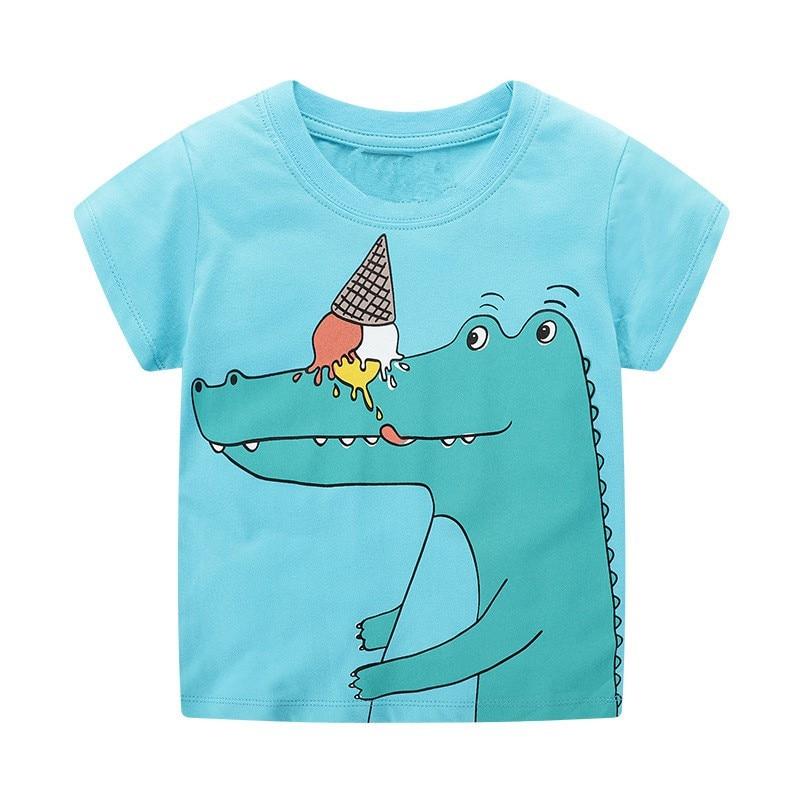 VIDMID 2-7Years Children baby boys Kids Boys T-Shirt Cotton Cartoon animals Baby Boys Short Sleeve t-Shirts Summer clothing W02 3