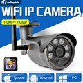 2MP Câmera IP Sem Fio Ao Ar Livre À Prova D' Água Night Vision Vigilância 1.0MP 3.6mm Lens CCTV Segurança 720 P 1080 P Wi-fi câmera Onvif