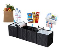 Foldable 4 Compartment Trunk Organizer For Car SUV Minivan And Truck Sturdy And Flexible