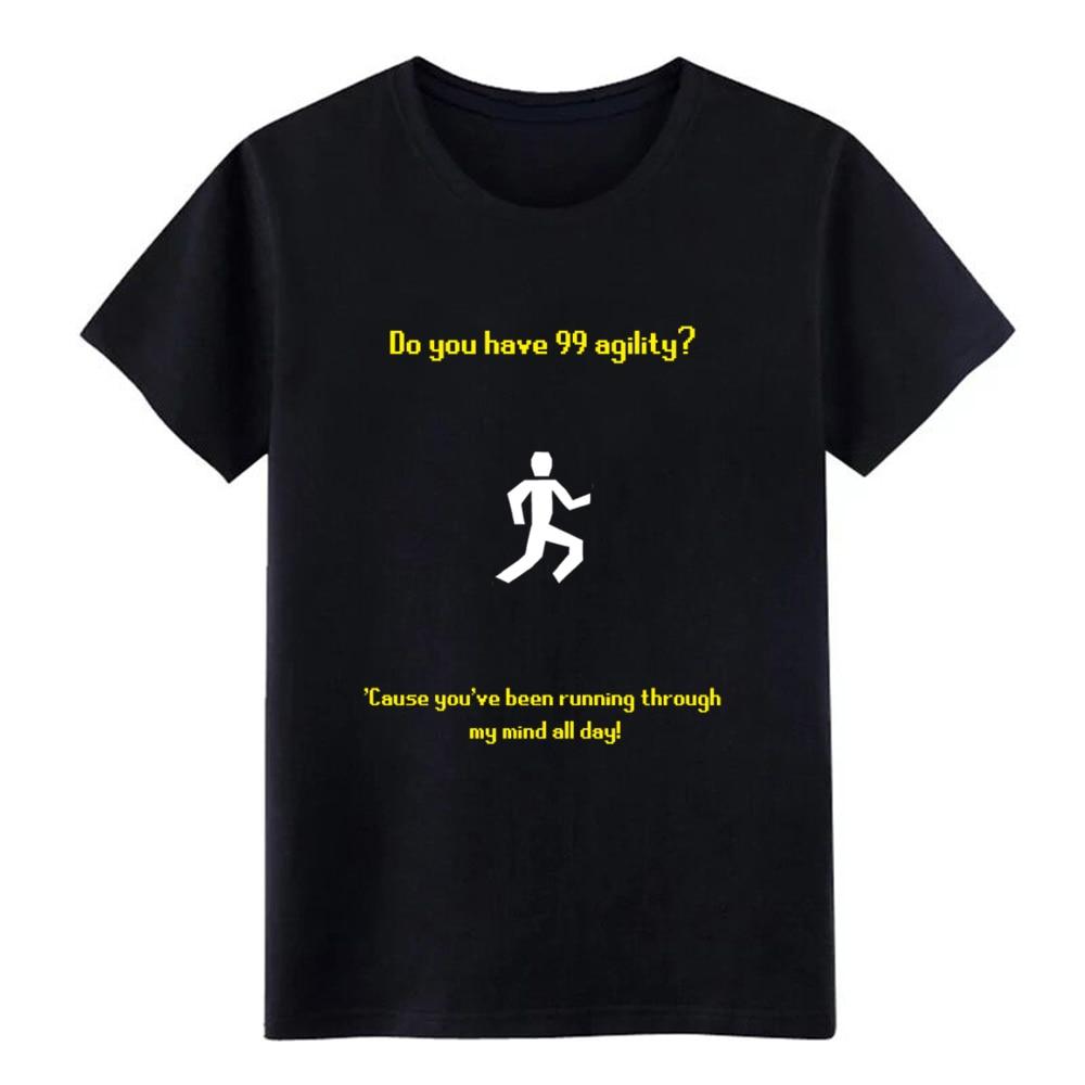 runescape agility pickup line t shirt men Printing Short Sleeve round Neck Vintage Graphic Humor Spring Autumn Pattern tshirt