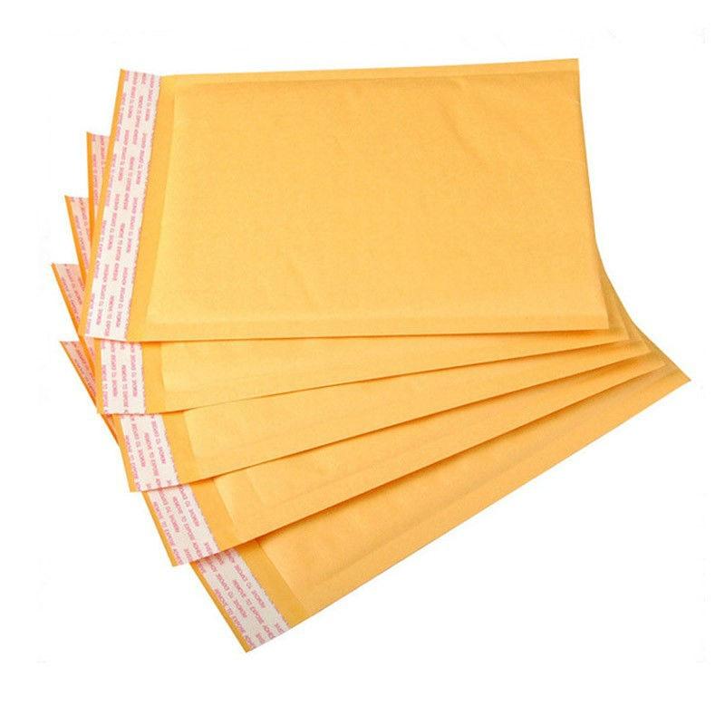 25*30CM 30Pcs Kraft Paper Foam Fill Envelope Poly Mailer Kraft Paper Bubble Packaging Envelope Mail Bag Thick Bag Lightweight