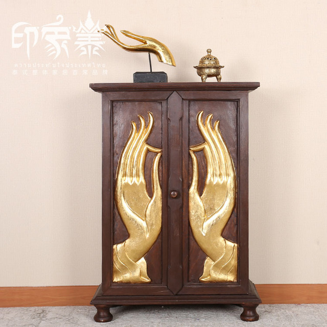 Thai Impression Console Tables Southeast Asian Style Wood Furniture Chinese  Classical Handmade Wood Carving Station Entrance