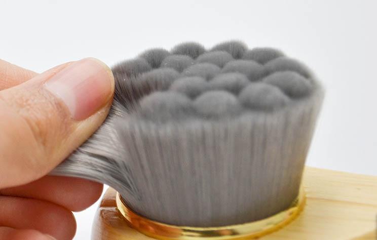 100 шт.. массажные инструменты с деревянной ручкой для мытья кисти ручная Очищающая щетка для черного глубокого очищения инструментов для макияжа - 5