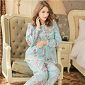 2017 New Arrival Pijama Women Sleepwear Girl Sweet Pajamas Cotton Long-sleeve Pajama Sets Round Neck Casual Lounge Set 679