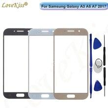 Ön Panel Samsung Galaxy A3 A5 A7 2017 A320 A520 A720 dokunmatik ekran sensörü lcd ekran Digitizer cam üst kapak yedek