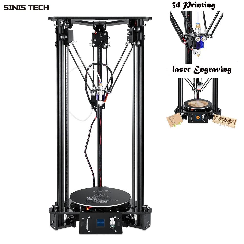 SinisT1 Delta 3D imprimante 3D bricolage imprimante Kit taille d'impression 180*320 MM pas cher Machine boîte facile à assembler expédier de la république tchèque